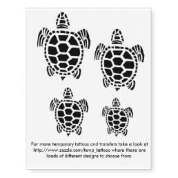 Turtle design transfers and temporary tattoos