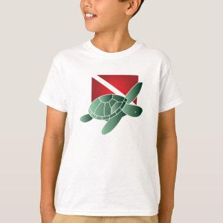Turtle Dive Flag Kids T-shirt