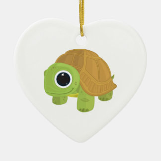 Turtle Double-Sided Heart Ceramic Christmas Ornament