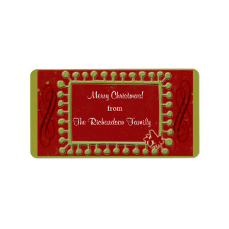 Turtle Dove Christmas Gift Tags Personalized Address Label