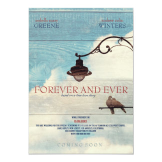 """Turtle Doves - FOREVER AND EVER 5"""" X 7"""" Invitation Card"""