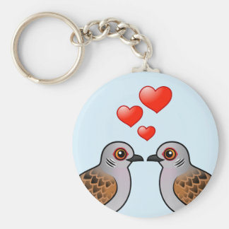 Turtle Doves in Love Keychain