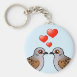 Turtle Doves in Love Keychains