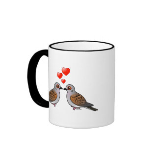 Turtle Doves in Love Coffee Mugs