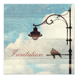 """Turtle Doves - love and faithfulness forever 5.25"""" Square Invitation Card"""
