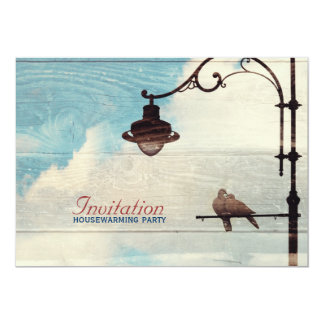 "Turtle Doves - love and faithfulness 5"" X 7"" Invitation Card"