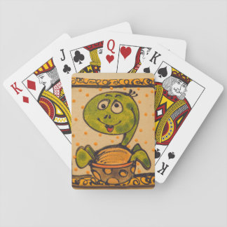 Turtle drawing playing cards