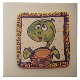 Turtle drawing ceramic tile
