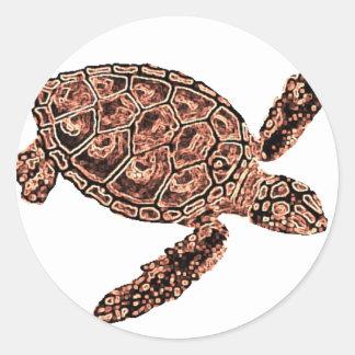 Turtle Dream Classic Round Sticker