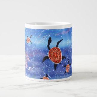 Turtle Dreaming Expresso Mug 20 Oz Large Ceramic Coffee Mug