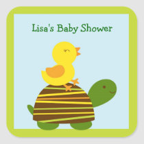 Turtle Duck Stickers Labels