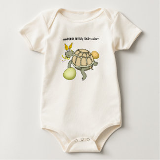 Turtle Easter Bunny with Eggs! Baby Bodysuit