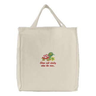 Turtle Embroidered Tote Bag