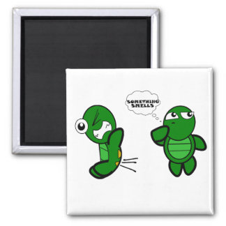 Turtle Fart 2 Inch Square Magnet