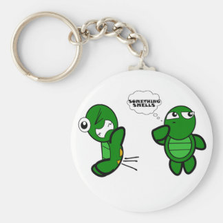 Turtle Fart Basic Round Button Keychain