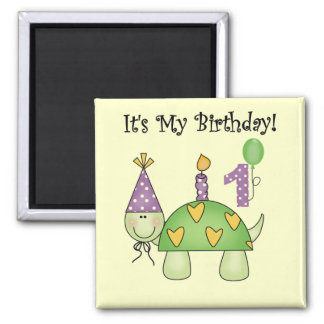 Turtle First Birthday Tshirts and Gifts Magnet