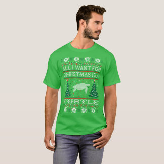 Turtle First Rest Later Christmas Ugly Sweater Tee