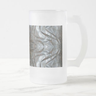 Turtle flake frosted glass beer mug