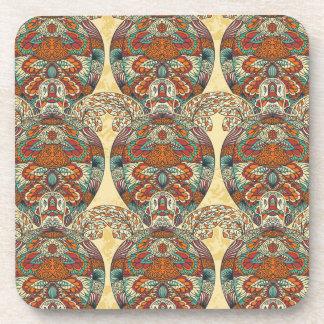 Turtle Floral Pattern Coaster