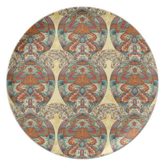 Turtle Floral Pattern Dinner Plate