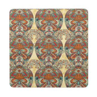 Turtle Floral Pattern Puzzle Coaster
