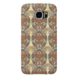 Turtle Floral Pattern Samsung Galaxy S6 Cases