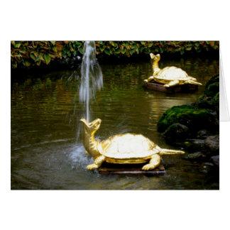 Turtle Fountain Card
