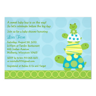 Turtle Frog Baby Shower Invitations