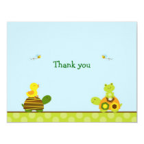 Turtle Frog Duck Flat Thank You Note Cards