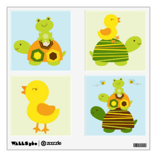 Turtle Frog Duck Nursery Wall Stickers Decals