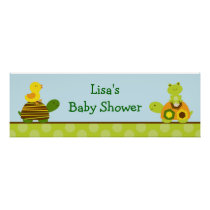 Turtle Frog Duck Personalized Banner Sign Poster