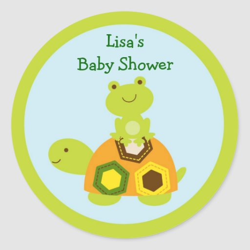 Turtle Frog Stickers Labels