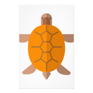 Turtle From Above Primitive Style Stationery
