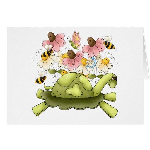 Turtle Garden Greeting Card