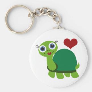 Turtle Girl Keychain