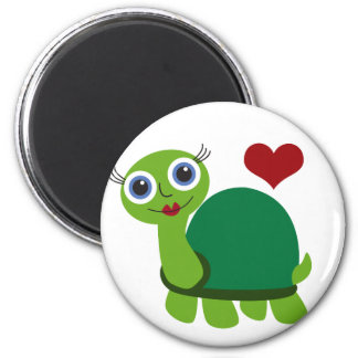 Turtle Girl Magnet