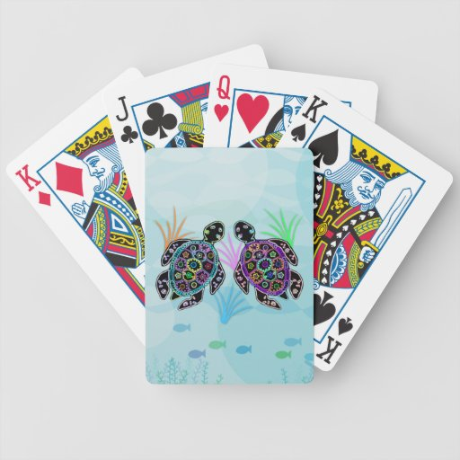 Turtle Glow Bicycle Playing Cards