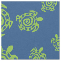 Turtle Green and Blue Print Fabric