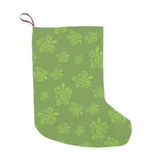 Turtle Green Graphic Small Christmas Stocking