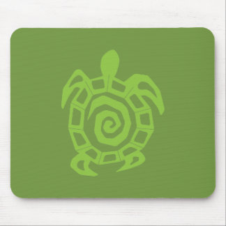 Turtle Green Print Mouse Pad