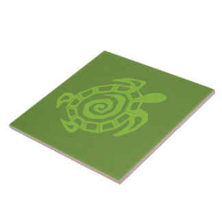 Turtle Green Print Tile