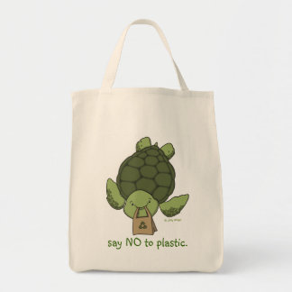 Turtle Grocery Tote Tote Bag
