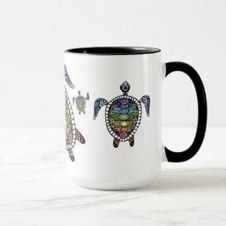 Turtle Harmony Black 15 oz Ringer Mug