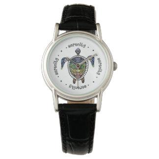 Turtle Harmony Classic Black Leather Wristwatches