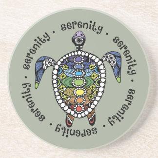 Turtle Harmony Sandstone Drink Coaster