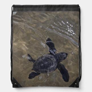 Turtle hatchlings 2 drawstring backpack
