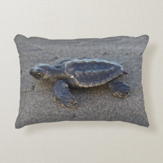 Turtle hatchlings accent pillow