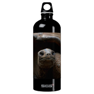 Turtle Head Closeup Aluminum Water Bottle