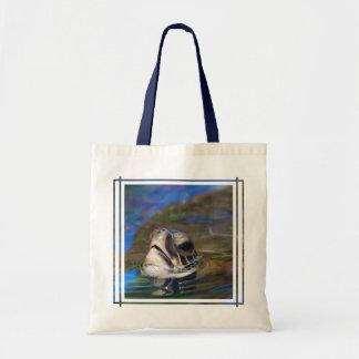 Turtle Head Tote Bag