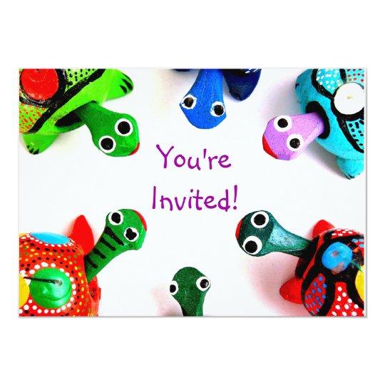 Turtle Heads Invitation